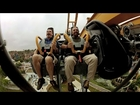 Batman: The Ride front seat on-ride HD POV @60fps Six Flags Fiesta Texas
