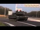 [軍事]オランダ王国軍 レオパルト2 公道での自走移動訓練