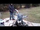 Jet Engine running on Waste Motor oil 004