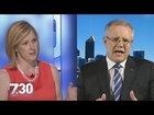 'You're not addressing what I'm asking': Leigh Sales and Scott Morrison lock horns
