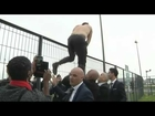 video: Air France bosses have shirts ripped from their backs as they escape furious employee mob