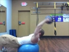 Secret to Six Pack Abs - 3 Part Exercise Ball Crunches with Medicine Ball