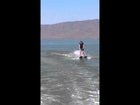Kamber water skiing!