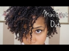Mini TwistOut on Natural Hair
