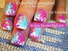 DIY Nail Art Tutorial | Colorful Cannabis Design #420