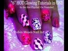 5 Nail Art Tutorials | DIY Mix N Match Nails | Neon Pink glow Design!