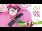 How to create a hair bun for your fofucha doll.