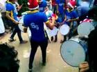 Drums playing boys           rocking' X' mas in broadway kochi