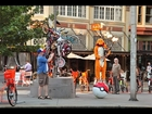 Charmander Plays Pokémon Theme on Flaming Bagpipes while Balancing on a Pokéball in Portland