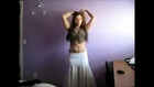 Russian girl amazing belly dance in room private people