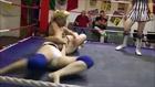 Amazing females wrestling (headlock, arm lock, armbar). Big power women's wrestling match