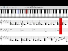George Michael - Let Her Down Easy Piano Tutorial with on screen sheet music.